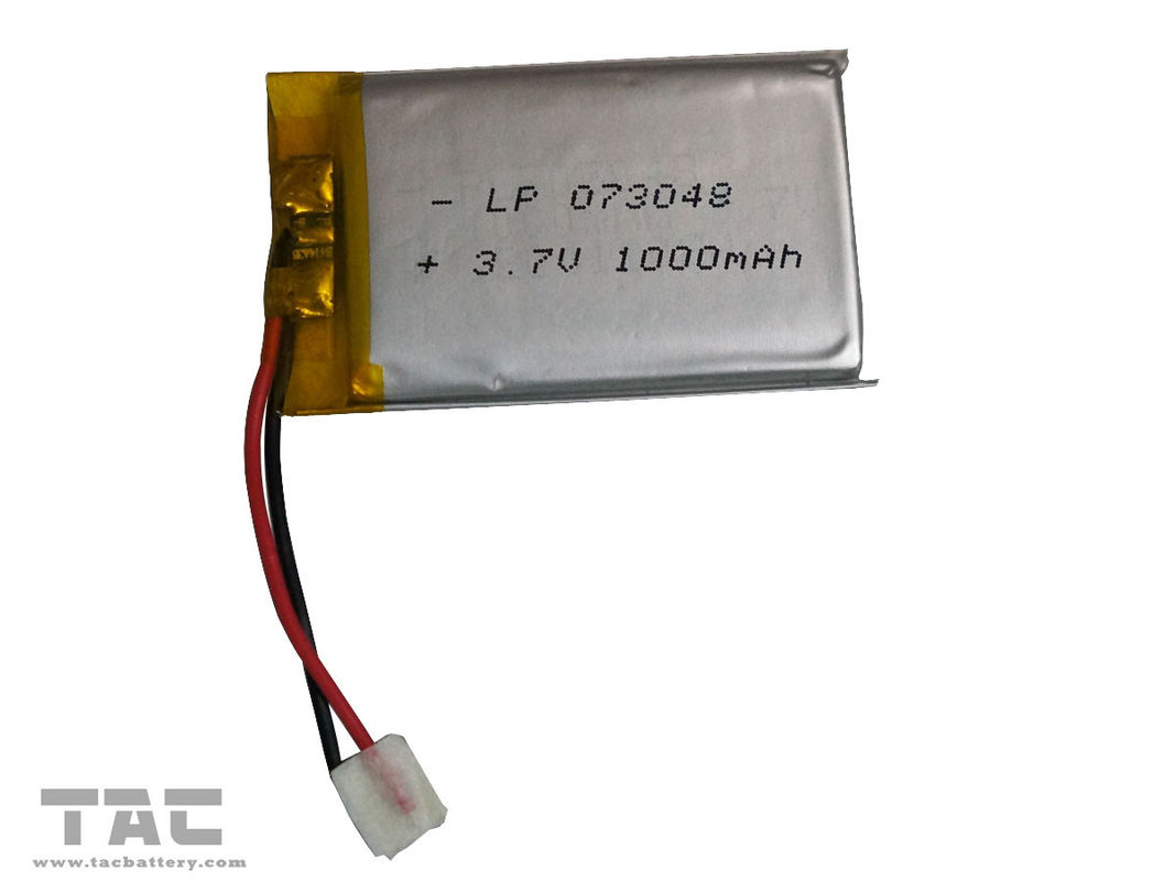 Lipo Battery LP073048 3.7V 800mAh Polymer Lithium Ion For Electrial Production
