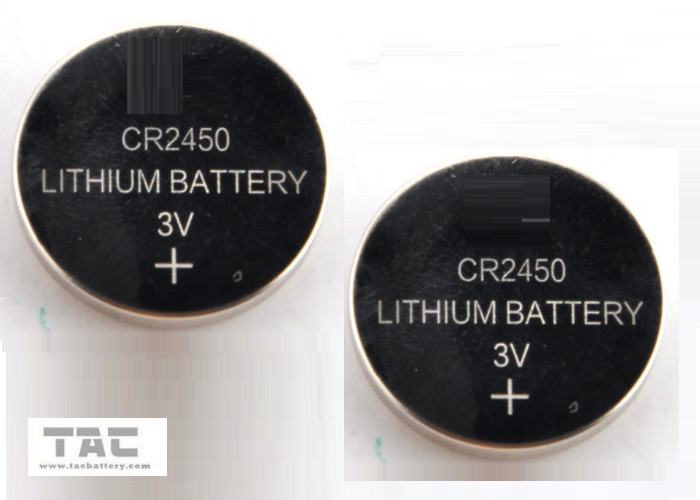 CR2450 3.0V 600mA Li-Mn Primary Lithium Coin Cell Buttery for Clock  Memory Card